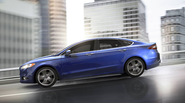 2016 Ford Fusion Exterior Side View Blue